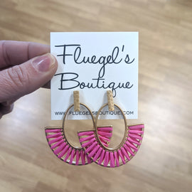 Pink & Gold Hooped Earring (was $16)