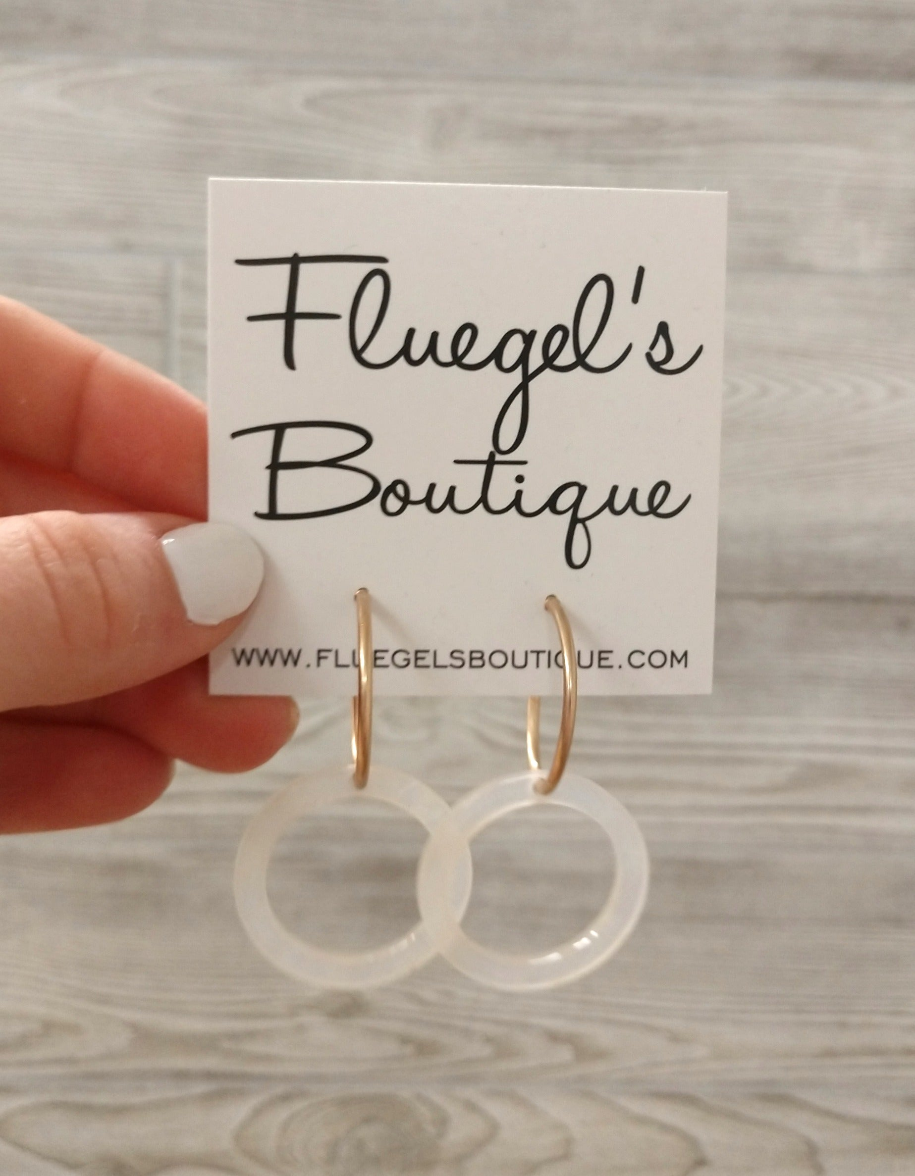 Laurel Clear Circle Earring