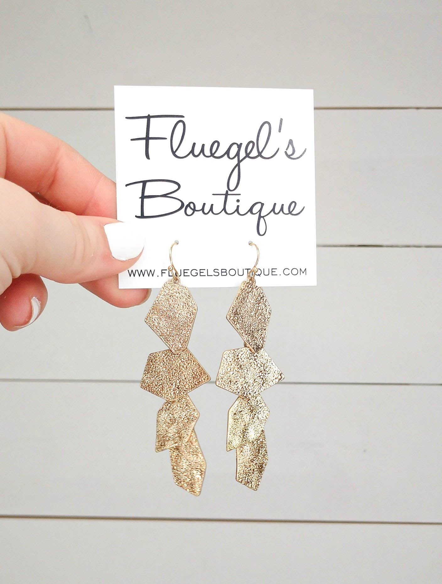 Sparkly Gold Stack Earring