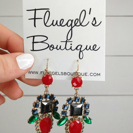Multi Color Jeweled Earring (was $13.50)