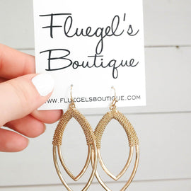 Braided Gold Tier Earring