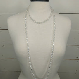 XLong Clear Bead Necklace