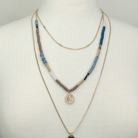 Tri-Layer Coin Necklace