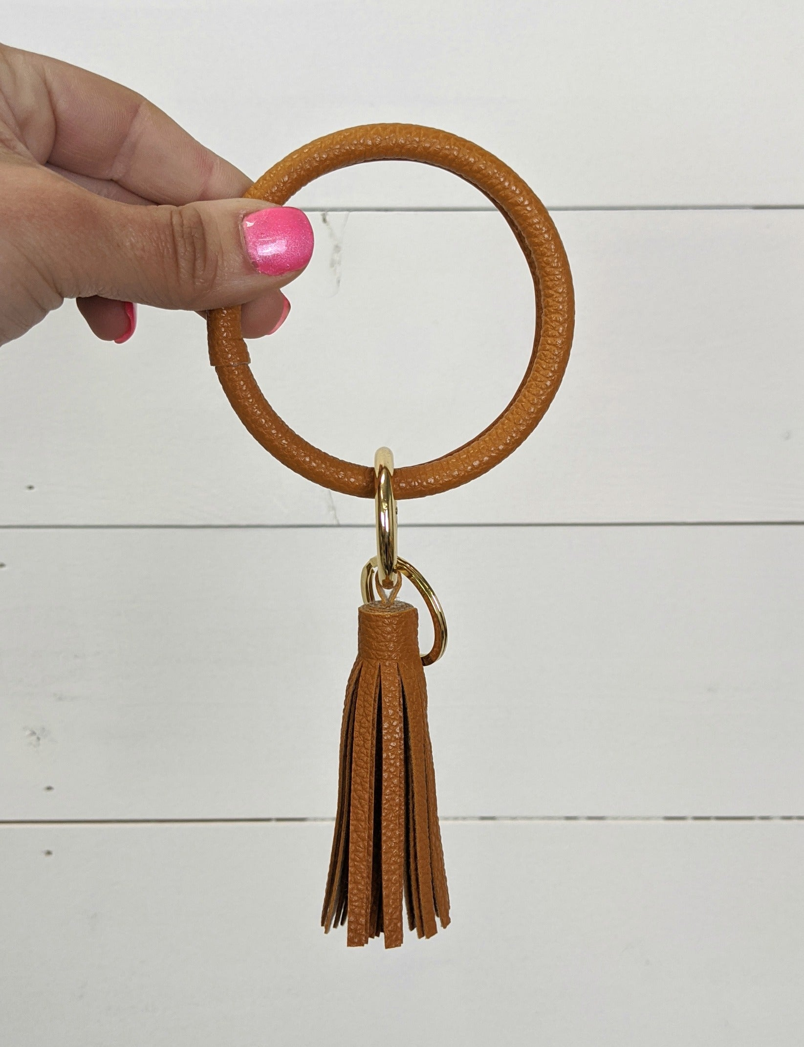 O Key Ring - Camel