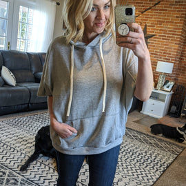 Seth Heather Grey Dolman Hoodie