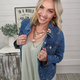 Shirley Floral Denim Jacket