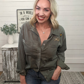 Jess Patched Military Jacket