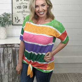 Jenna Multi-Color Block Top