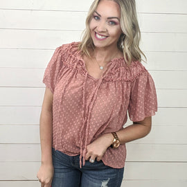 Quinn Mauve Detailed Top