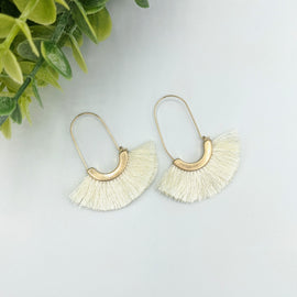 Molly Cream Fringe Earring