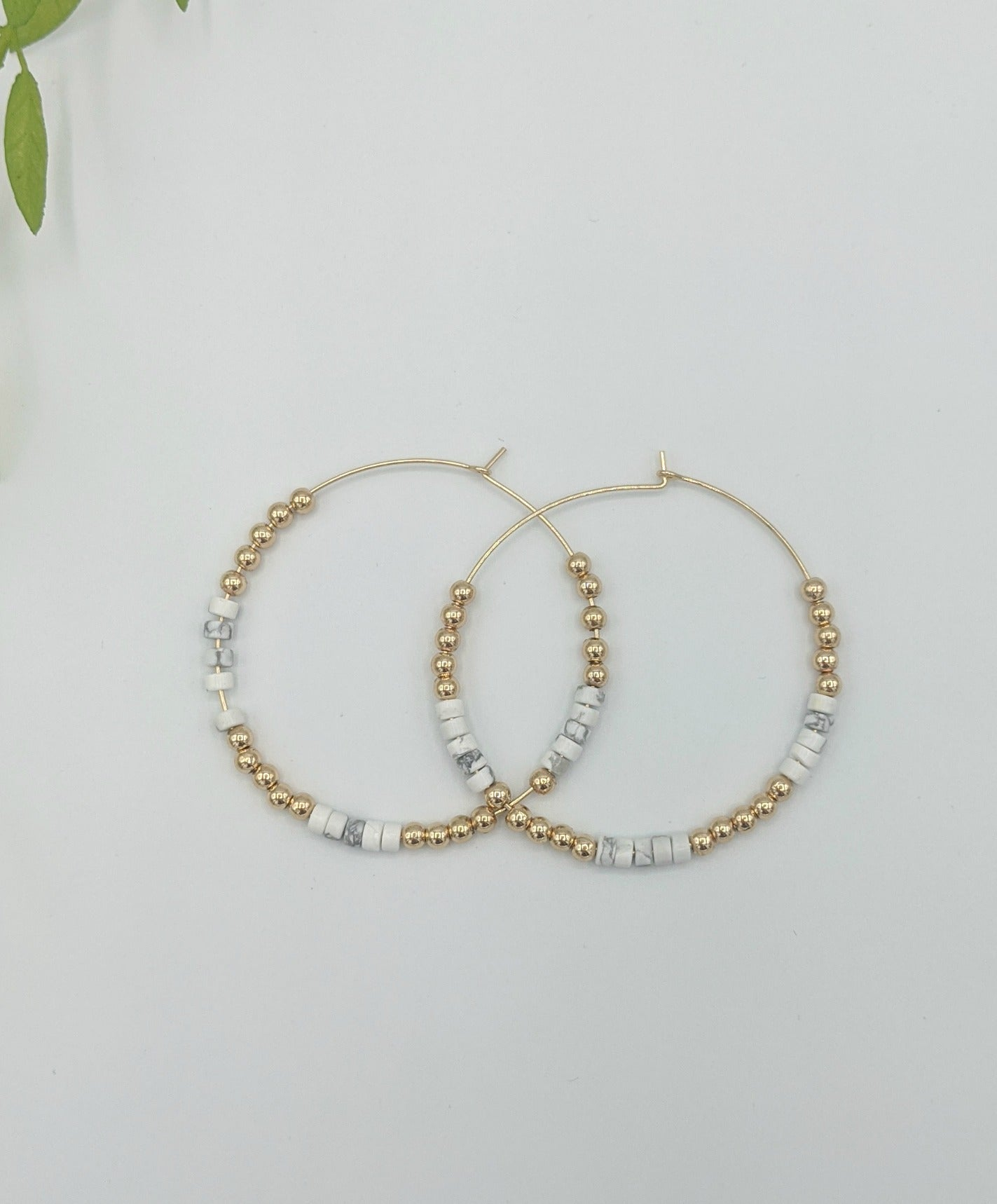Tinsley Marble and Gold Hoop