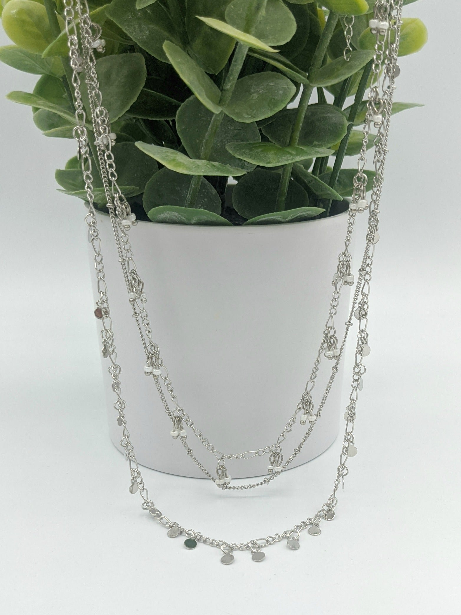 Elyse 3 Chain Sliver Necklace