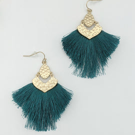 Parker Teal Fringe Drop Earring