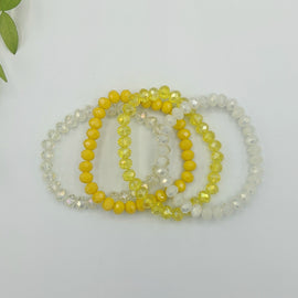 Henley 4ct Beaded Bracelet - Yellow