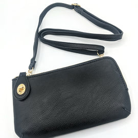 Black Wristlet & Crossbody Wallet
