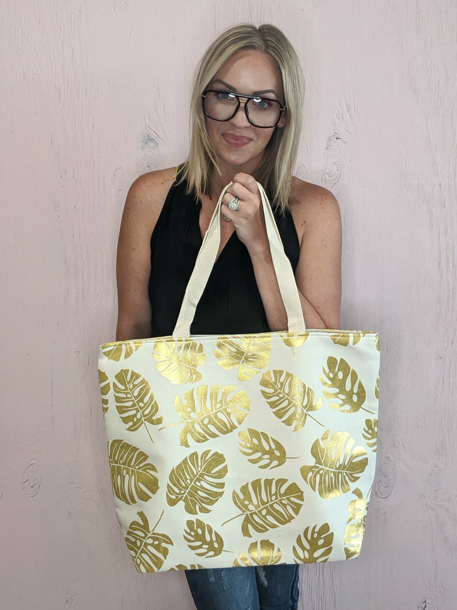 Gold Leaf Tote *Final Sale*