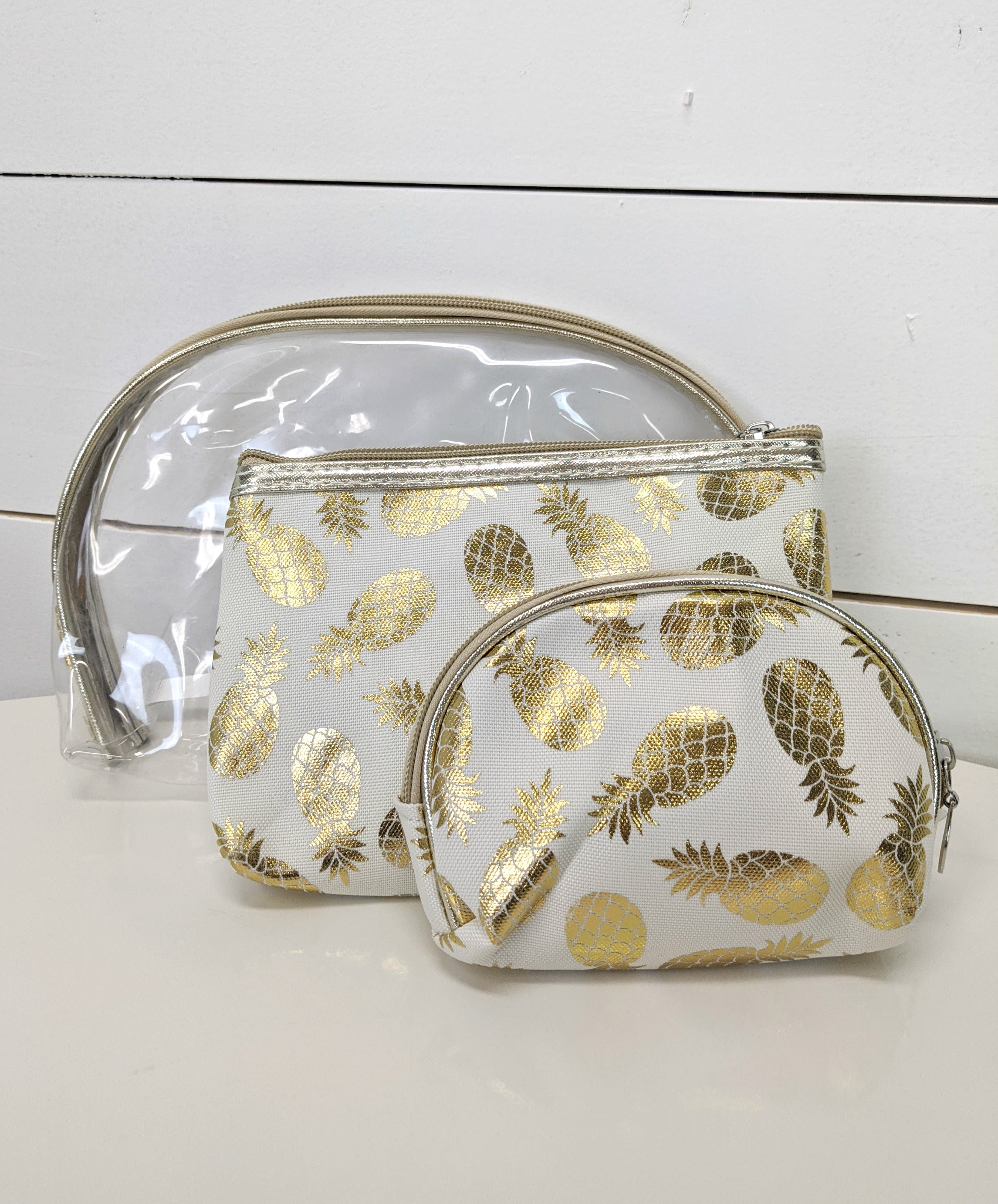 Pineapple Cosmetic Pouches, 3ct *Final Sale*