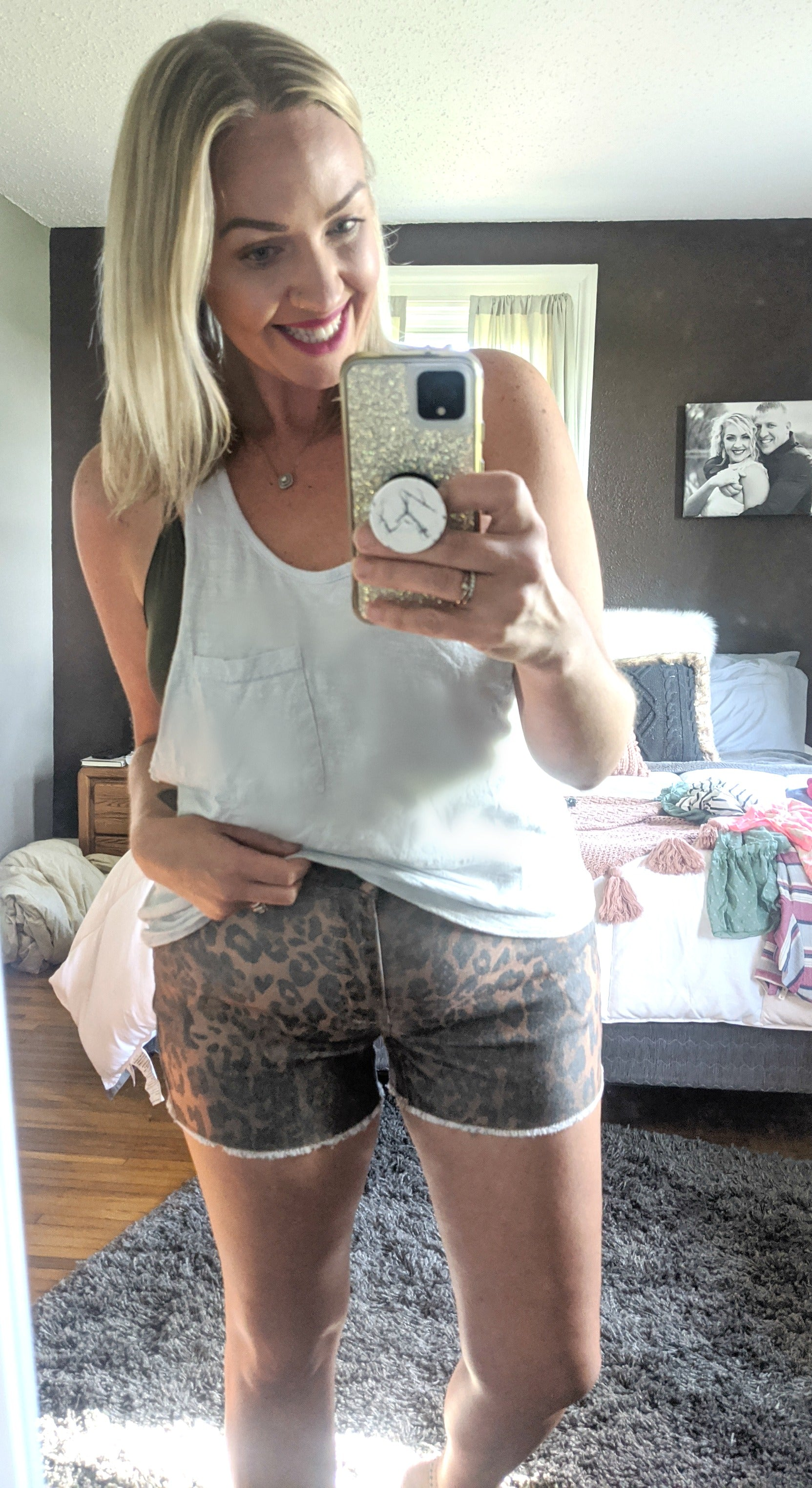 Lee Animal Print Denim Shorts *Final Sale*