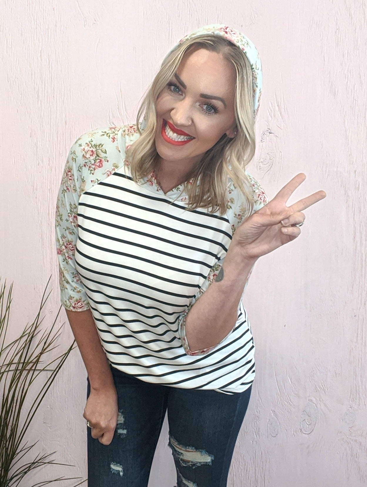 Sidney Stripe & Floral Top