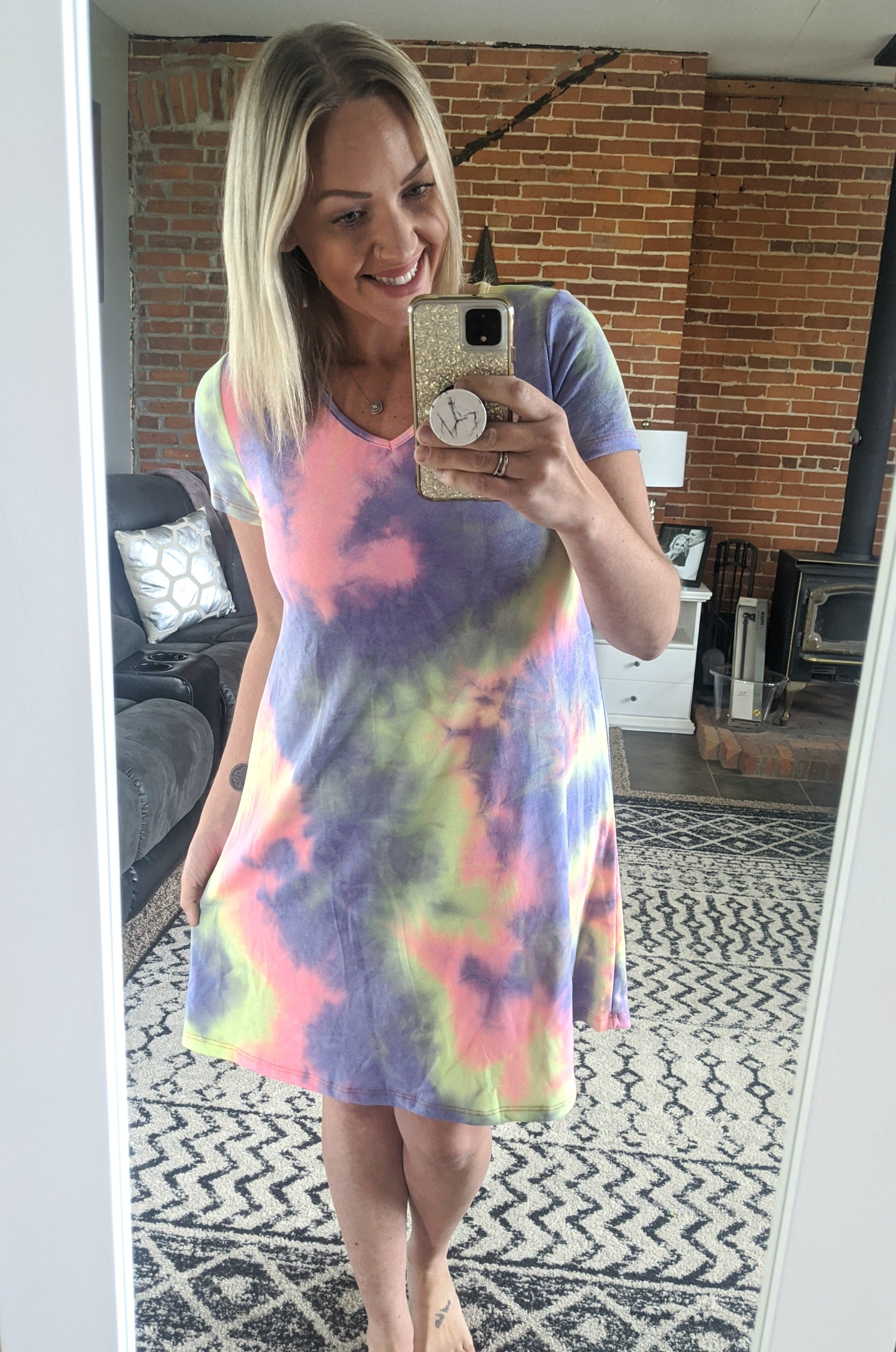 Brooke Lavender Tie-Dye Dress