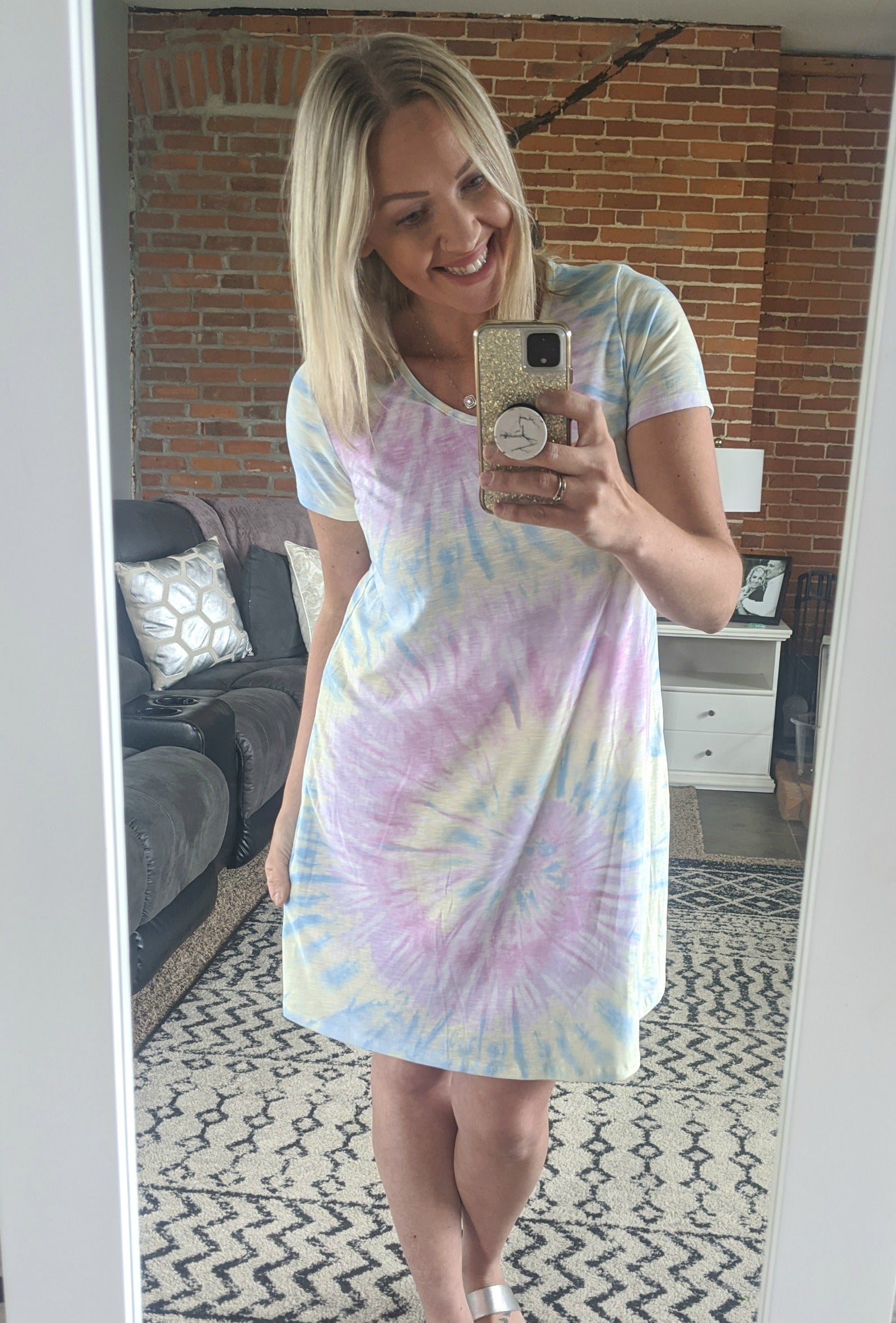 Randy Lavender Tie Dye Dress *Final Sale*