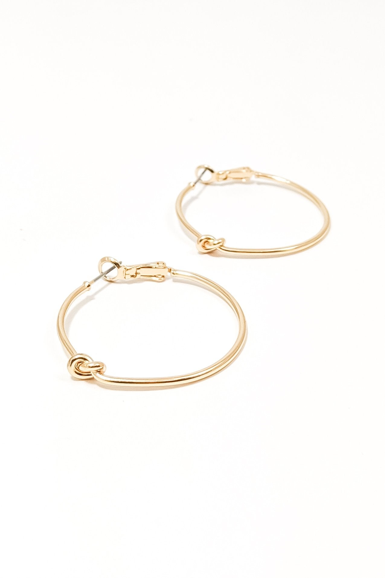 Infinity Gold Knot Earring