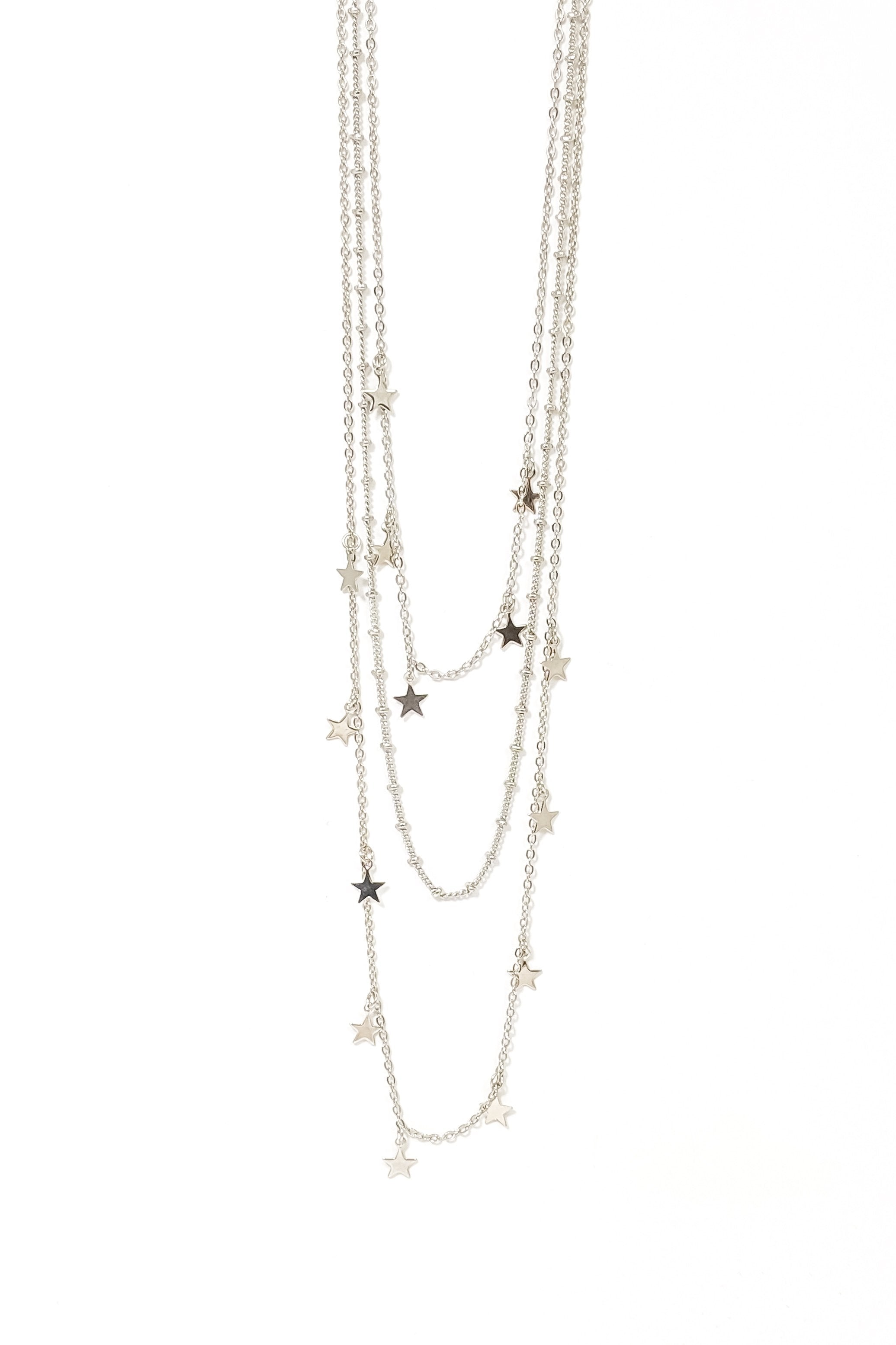 Joy Silver Star Necklace
