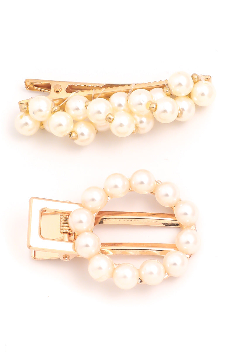 Pearl Clips - 2pk