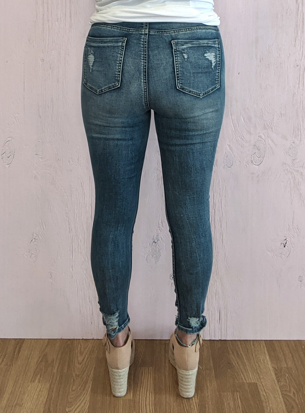 Danielle High Rise Distressed Skinny Jeans