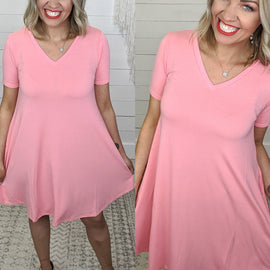 Tshirt Dress - Rose