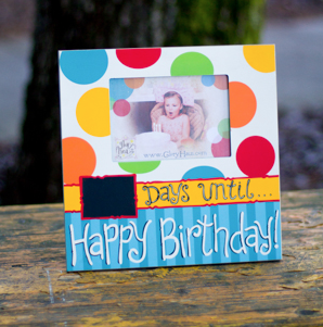 Days Until Happy Birthday Frame, 12x12