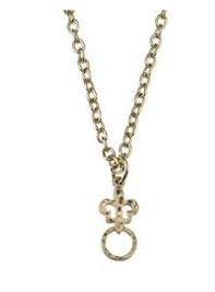 "Jane Marie 36"" Necklace with Fleur-de-Lis Charm Catcher - Gold"