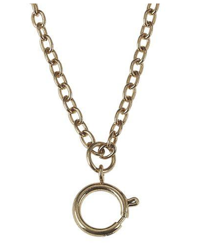 Jane Marie Antique Gold Necklace with Spring Clasp