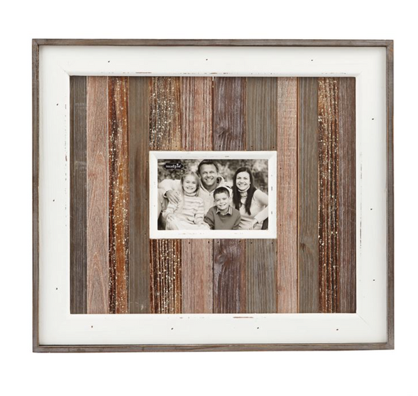 Small Natural Wood Planked Frame