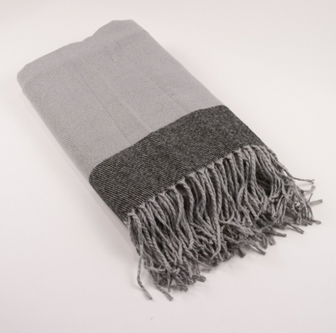 Charcoal Milan Throw