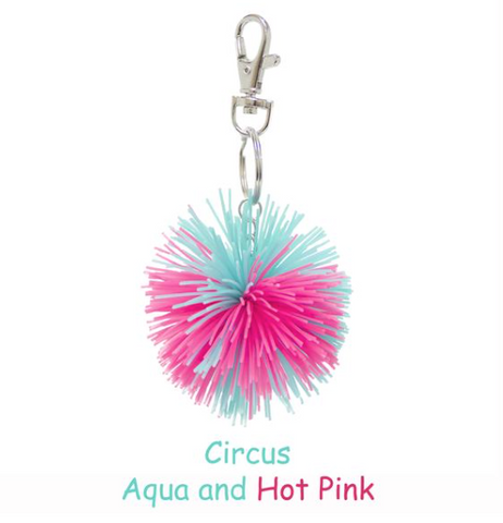 Glow in the Dark PomPom Keychain