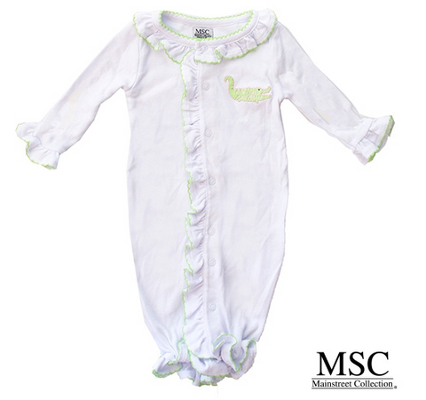 Alligator Convertible Onesie