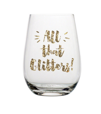 All That Glitters 20oz Stemless Wine Glass