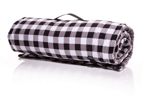 Black & White Gingham Napmat
