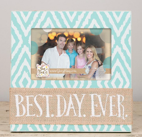 Best. Day. Ever. Burlap Frame