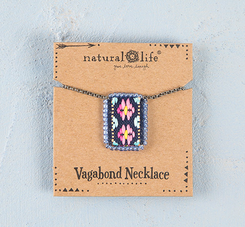 Pink & Mint Vagabond Necklace