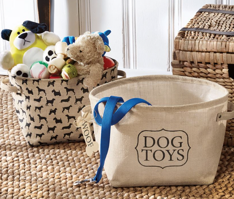 Dog Toys Basket Set