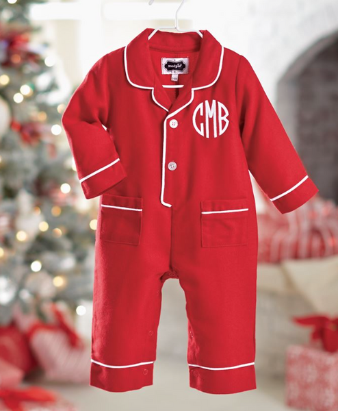 Monogram Me Red Pajama One Piece