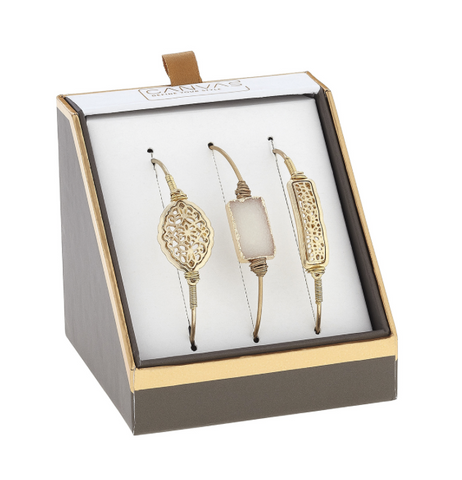 Gold Bangle Gift Set of 3