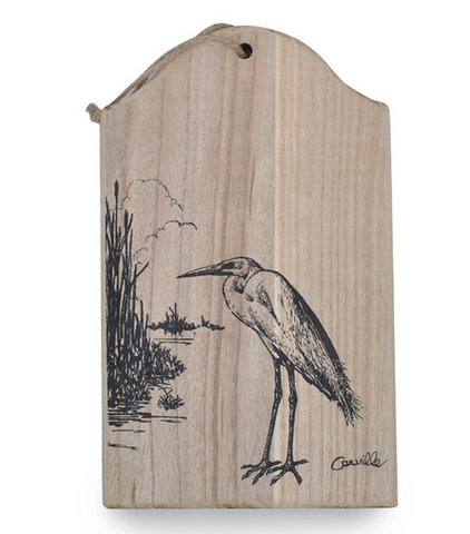 Carville Egret Decorative Wood Board
