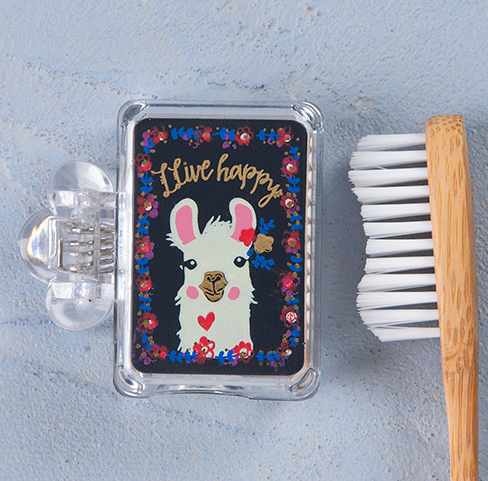 Live Happy Llama Toothbrush Cover