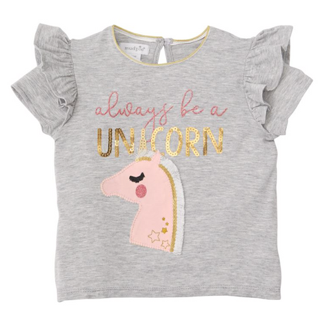 Bamboo Unicorn Sequin Tee
