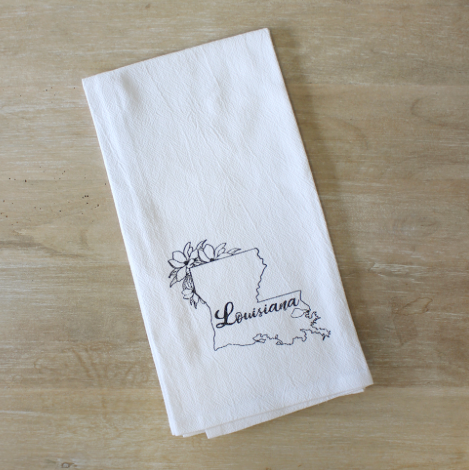 Louisiana Flour Sack Hand Towel