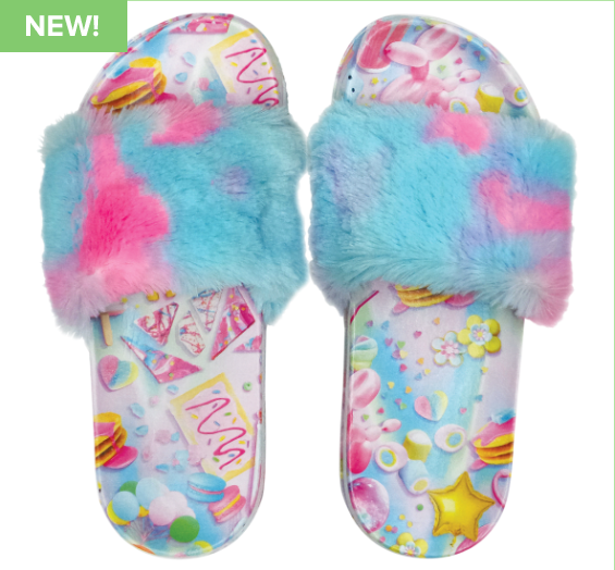 Chill Faux Fur Slides