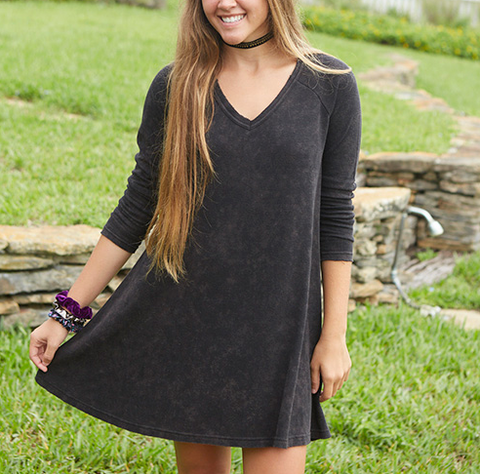 Charcoal Thermal Hangout Dress